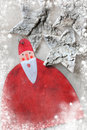 Christmas decoration santa claus over grunge background vintage paper Stock Photo