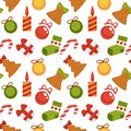 Christmas decoration seamless pattern background vector New Year winter holiday greeting card design Royalty Free Stock Photo