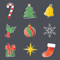 Christmas decoration set Stock Photos