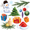 Christmas decoration set Royalty Free Stock Image