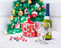 Christmas Decoration Setting Royalty Free Stock Photography