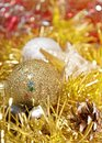 Christmas decoration with shiny glare Royalty Free Stock Images