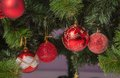 Christmas decoration with shiny glare Royalty Free Stock Photography