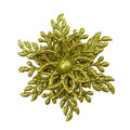 Christmas decoration star isolated Royalty Free Stock Images