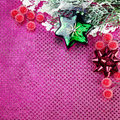 Christmas decoration with star on purple background Royalty Free Stock Photos