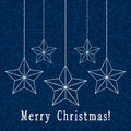 Christmas decoration with stars holiday Royalty Free Stock Photos