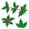 Christmas decoration symbols Royalty Free Stock Photos