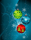 Christmas decoration vector Royalty Free Stock Photos