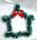 Christmas decoration on white background hous Royalty Free Stock Images