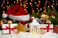 Christmas Decoration On White ...