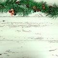 Christmas decoration on white wood weathered background Royalty Free Stock Image