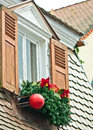 Christmas decoration window with germany Royalty Free Stock Images