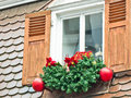 Christmas decoration window with germany Stock Image