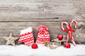 Christmas decoration with xmas canes Royalty Free Stock Photo