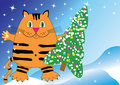 Christmas decoration. Year of the Tiger Royalty Free Stock Image