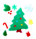 Christmas decorations adhesive gel Royalty Free Stock Photo