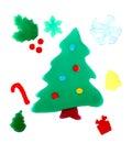 Christmas decorations adhesive gel Royalty Free Stock Photo
