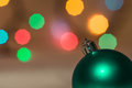 Christmas decorations on the background of colorful bokeh close up Stock Photography