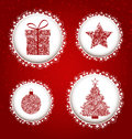 Christmas decorations background with snowflakes decoration Stock Photos