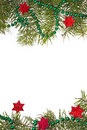 Christmas decorations background star stars green spruce twig Royalty Free Stock Photo