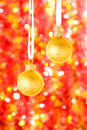 Christmas decorations on the blured background Stock Photos
