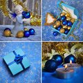 Christmas decorations collage Royalty Free Stock Images