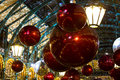 Christmas decorations in covent garden london uk Royalty Free Stock Photo