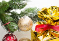Christmas decorations fragment Stock Images