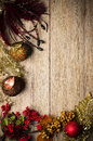 Christmas decorations frame Stock Photo