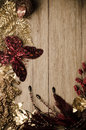 Christmas decorations frame Royalty Free Stock Images