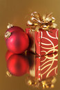 Christmas decorations and gift Stock Image