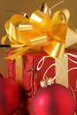 Christmas decorations and gift Royalty Free Stock Image