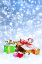 Christmas decorations. Gift boxes Royalty Free Stock Images