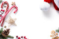 Christmas decorations and holidays sweet on white background Royalty Free Stock Photo