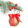 Christmas decorations isolated on white Stock Images