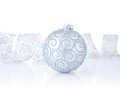 Christmas decorations isolated on the white background Royalty Free Stock Photo