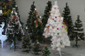 Christmas decorations on sale at the store Royalty Free Stock Photo