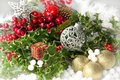 Christmas decorations scene red Royalty Free Stock Photo