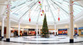 Christmas decorations in shopping mall festive and tree a modern centre mander centre wolverhampton uk Royalty Free Stock Photos
