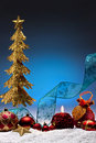 Christmas Decorations - Space for Copy Stock Image