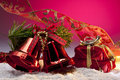Christmas Decorations with space for copy Royalty Free Stock Image