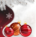 Christmas decorations and spruce branches Stock Photography