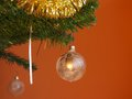 Christmas decorations on tree Royalty Free Stock Images