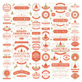 Christmas decorations vector design elements Royalty Free Stock Photo