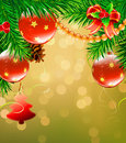 Christmas decorative background Stock Image