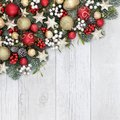 Christmas Decorative Background Border Royalty Free Stock Photo