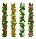 Christmas decorative belts made of holly and flowers