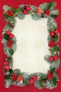 Christmas Decorative Border Royalty Free Stock Photo