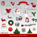 Christmas decorative elements collection Royalty Free Stock Images