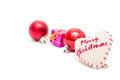 Christmas decorative ribbon Royalty Free Stock Photo